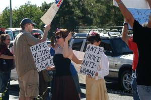 Anti-McCain/Palin Women Protestors