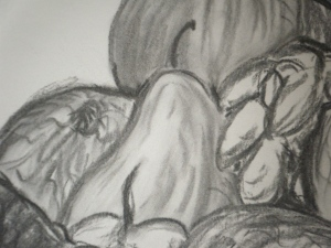 Charcoal detail