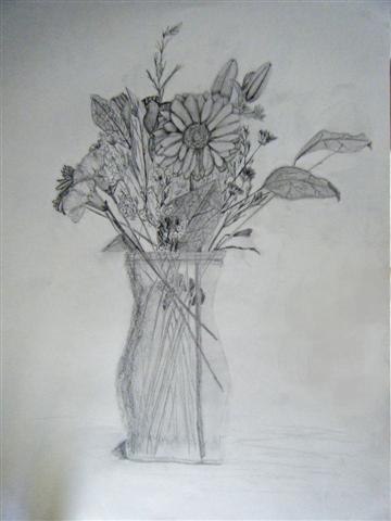 Flowers in Graphite