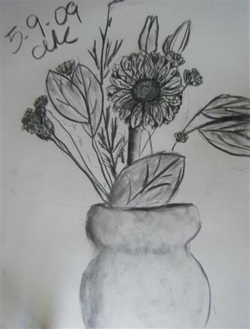 Flowers in Charcoal