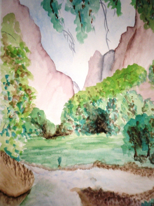 Zion Narrows Watercolor